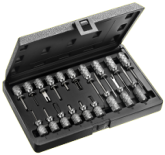 SET OF 19 TOOLS FOR EXTRACTING CONNECTOR PLUGS